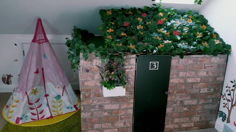 Woman Creates Indoor Wendy House For Her Kids For Just £40