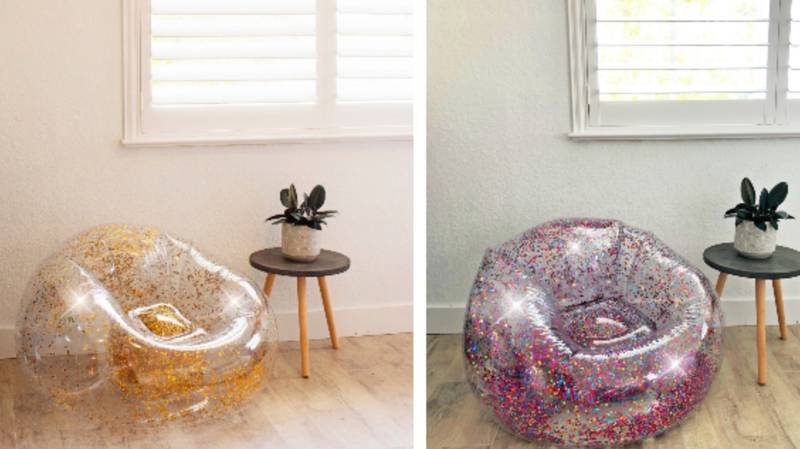 90s Babies, These Glittery Inflatable Chairs Are Making A Comeback
