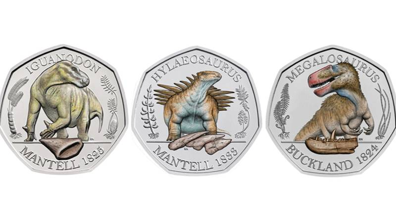 The Royal Mint Releases Three New Dinosaur 50p Coins