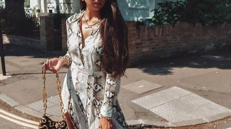 Everyone's Obsessing Over This Snake Print Pleated Shirt Dress From Topshop