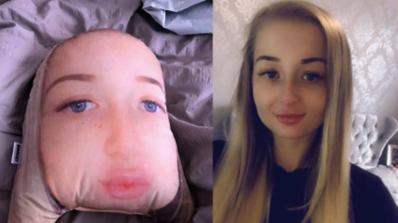 Woman Buys Boyfriend Cushion Of Herself For His Birthday And Ends Up Looking Like A Potato