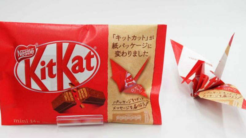 KitKat Is Replacing Its Plastic Packaging With Paper That Can Be Made Into Origami