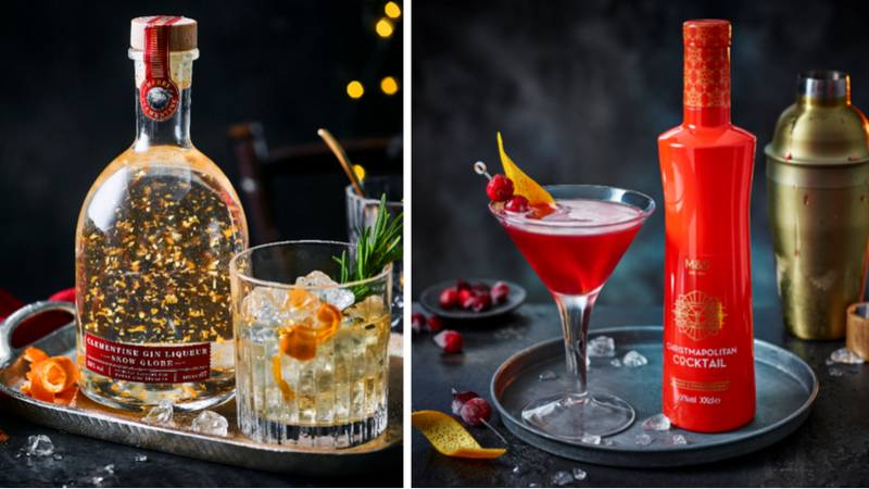 M&S' New Festive Range Features A Clementine Gin Liqueur Snow Globe And A Christmapolitan