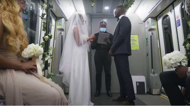 'Couple' Stage Wedding On Train To Highlight Coronavirus Restrictions