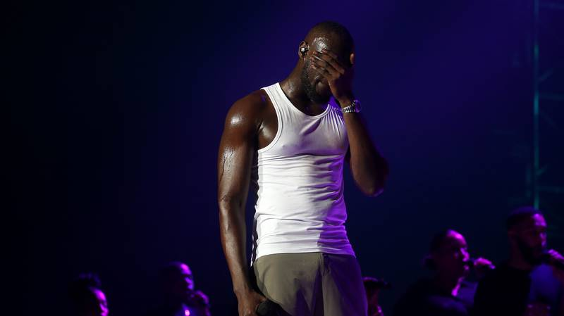 Stormzy Fights Back Tears As He Struggles To Perform Song About Maya Jama Split