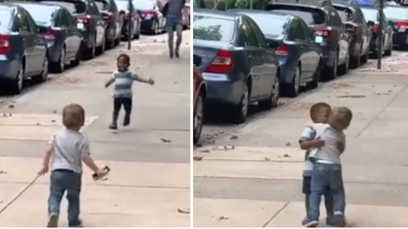 Little Boys Gleefully Reunited After Two Days Apart And It's The Purest Thing Ever