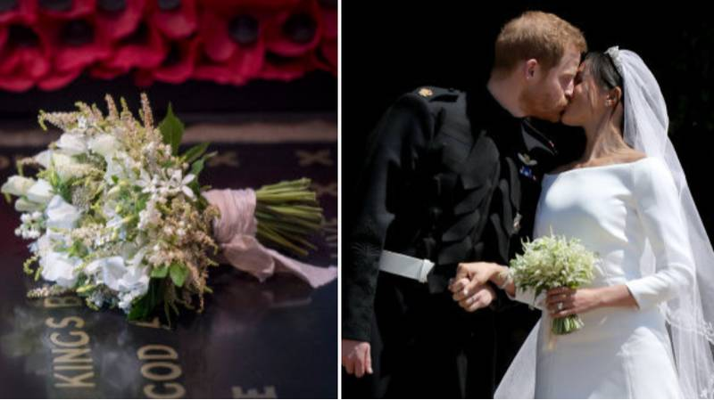 Meghan Markle's Wedding Bouquet Was Laid On The Grave Of The Unknown Warrior