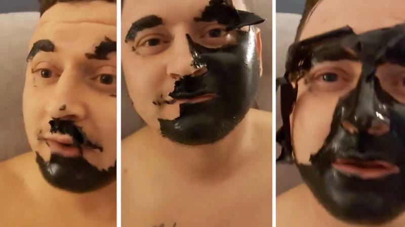 Dad Left With No Eyebrows After Hilarious Face Mask Fail