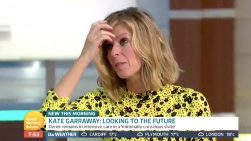 Kate Garraway In Tears On 'GMB' As She Says Her Children Have 'Effectively Lost Their Dad'