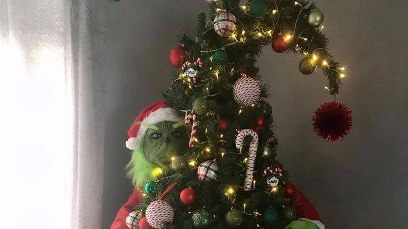 Mum Creates Incredible Grinch Christmas Tree For Just £35
