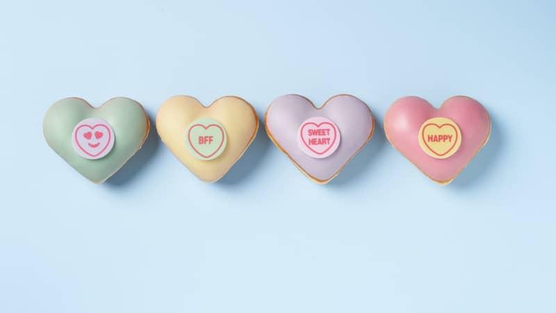 Krispy Kreme Partner With Swizzels To Launch New Love Hearts Doughnuts