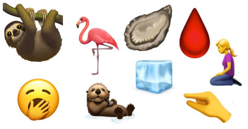 Apple Release Over 350 New Emojis Including A Sloth, Period Drop And New Dogs