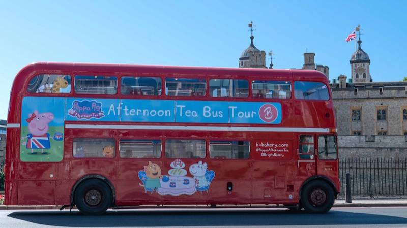 A 'Peppa Pig' Afternoon Tea Bus Has Launched In The UK