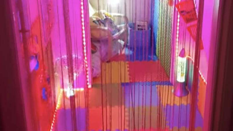 Woman Creates Incredible Sensory Room For Her Son Under The Stairs