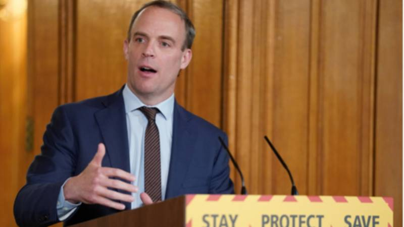 Dominic Raab Confirms You Can Meet Loved Ones Outdoors As Long As You're 2m Apart