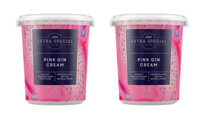 ASDA Is Selling Pots Of Pink Gin Cream To Go With Mince Pies