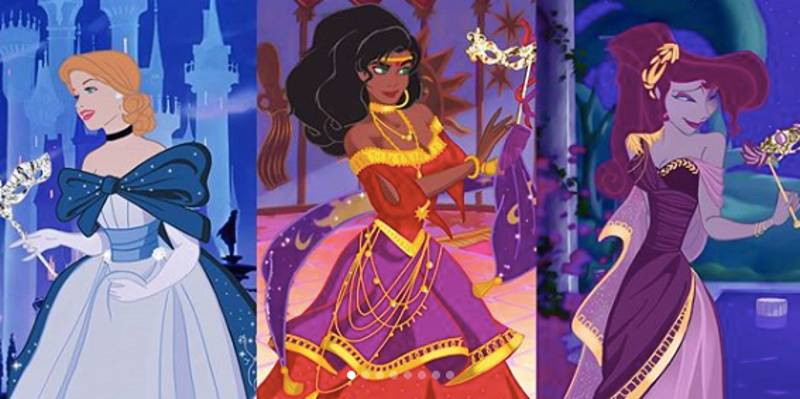 ​Artist Marta Sánchez García Gives Disney Princesses New Dress Designs