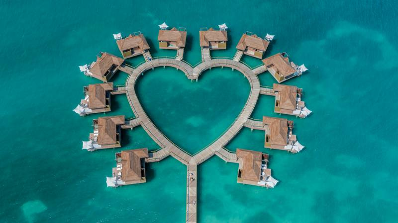 These Incredible Love Heart Over Water Villas In Jamaica Come With Their Very Own Butler