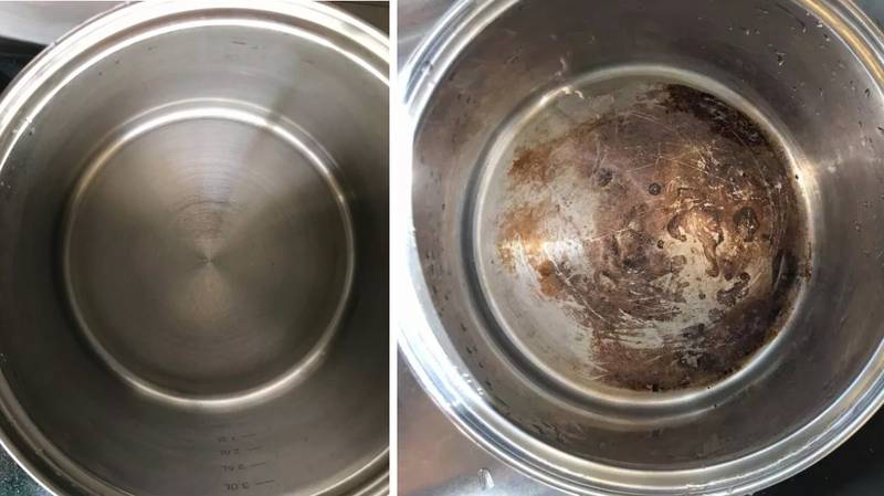 Woman Uses Dishwasher Tablet To Clean Burnt Pan And It's Pure Genius