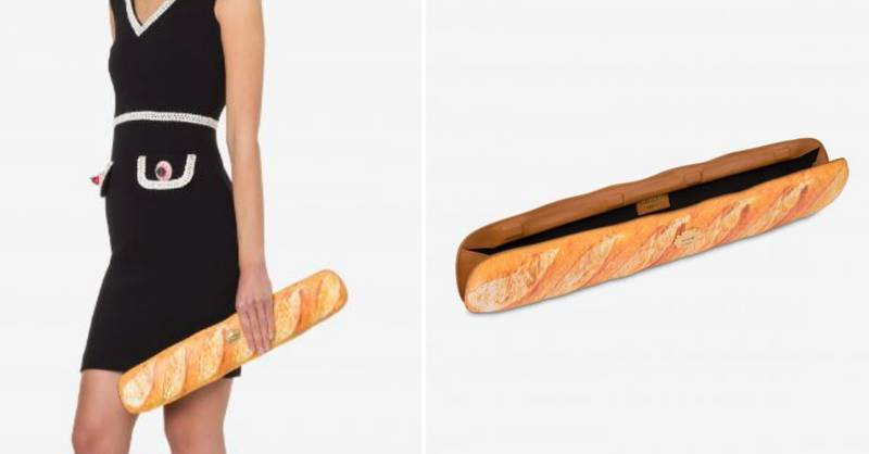 People Left Baffled By Moschino's £750 Baguette Clutch Bag