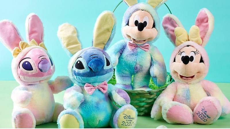 Disney Launches Adorable Mickey Mouse And Lilo & Stitch Easter Plush Toys