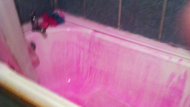 Woman Turns Bright Purple After Washing Hair Dye Out In The Shower