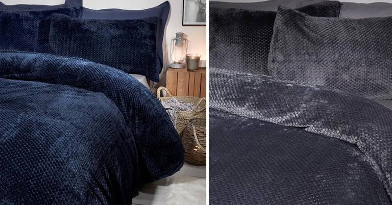 B&M Is Selling Fluffy Waffle Fleece Bed Covers To Keep You Toasty This Winter