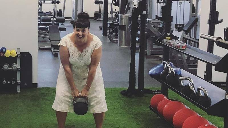 Bride Vows To Wears Her Wedding Dress Everywhere – From The Shops To The Gym