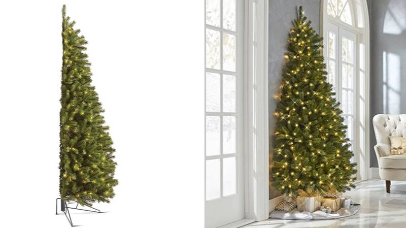 You Can Now Get Half Christmas Trees So You Don't Have To Decorate The Back