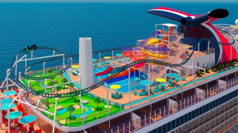A Cruise Liner For Thrill Seekers Is Launching In 2022 With An Onboard Rollercoaster