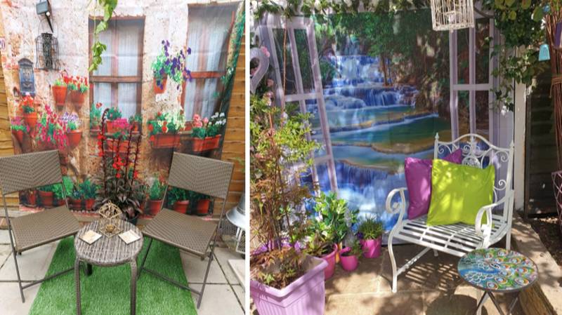 People Are Using Scenic Shower Curtains To Make Their Gardens Look More Exciting