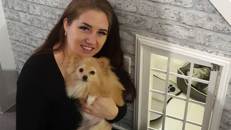 Woman Creates Amazing Dogbed In Cupboard Under The Stairs For Just £60