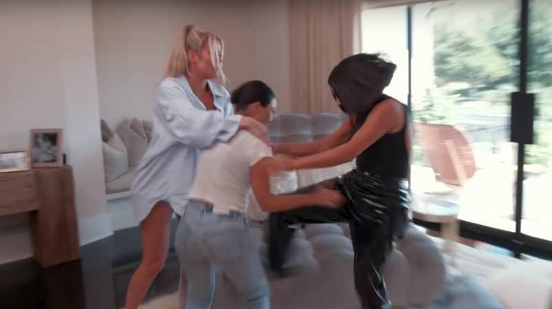 Kim And Kourtney Kardashian Physically Fight In New 'KUWTK' Trailer