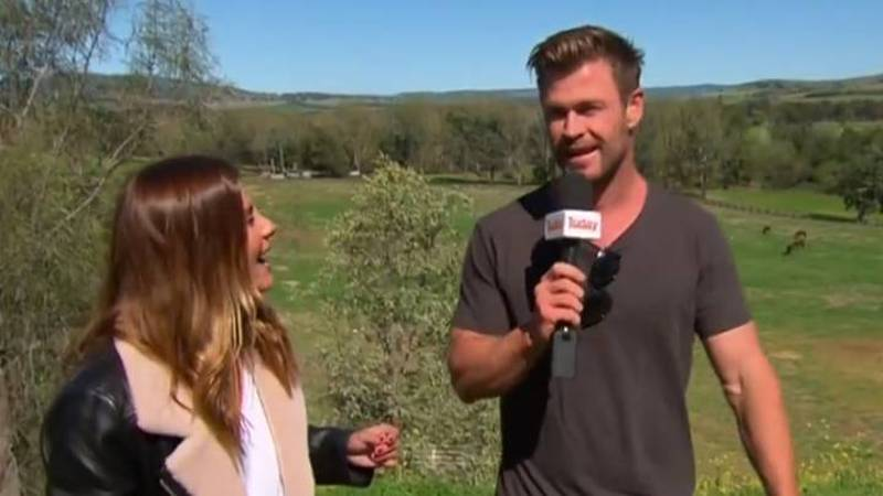 Chris Hemsworth Hilariously Interrupts Weather Report And Reads Out Forecast