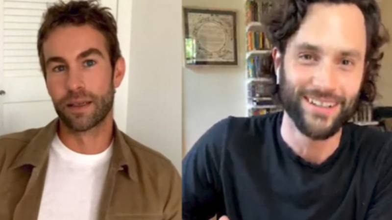 Penn Badgley And Chace Crawford Reunite Eight Years After 'Gossip Girl'