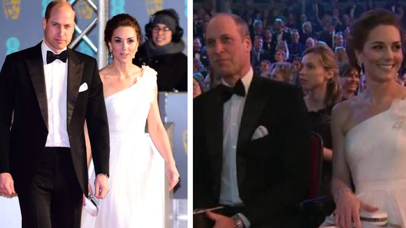 Kate Middleton And Prince William Had The Most Awkward BAFTAs Entrance