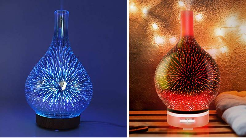 Shoppers Are Going Wild Over These Light Up Oil Diffusers From Amazon