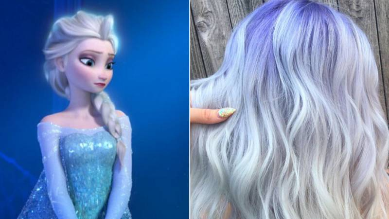 ​Blue Blonde 'Elsa Hair' Is All Over Instagram And We're Obsessed