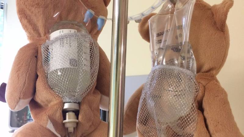 Twelve-Year-Old Girl Creates Teddy Bear Device To Make IV Drips Less Scary