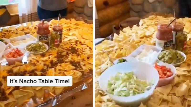 Family Create Huge Nacho Table And We Are Seriously Inspired