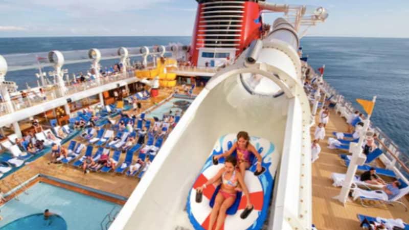 Disney Cruise Ship's 765ft Water-Coaster Looks Incredible