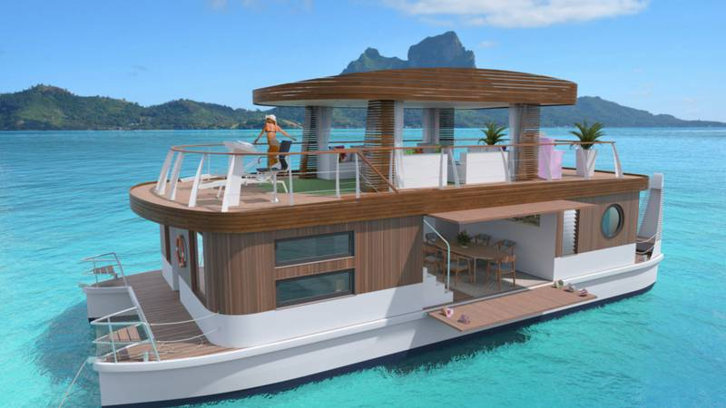 You Can Now Stay In A Floating Villa In Bora Bora