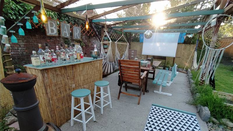 Family Use Old Furniture To Make Gorgeous Disco Bar In Back Garden